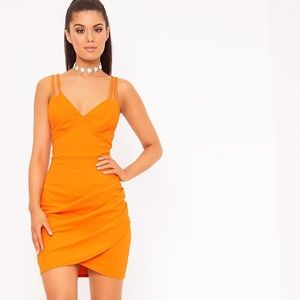 Pretty little thing orange dress!